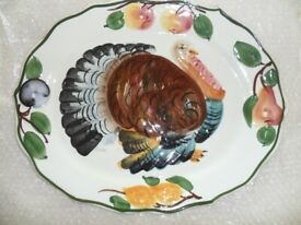 Large Vintage Turkey Meat Platter