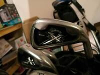 Callaway golf irons, driver and bag