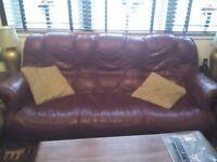 leather 4 piece sofa set