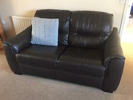 2 & 3 Seater leather settee