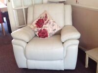 SCS Leather 3 Piece Suite (3mths old)