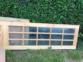 Solid pine and glass panel internal door