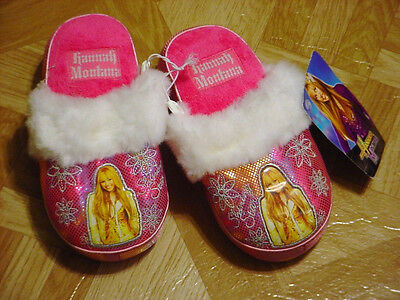 Hannah Montana Young Girls Hot Pink Slippers Sizes,  10, - Hot Young Teen Girls
