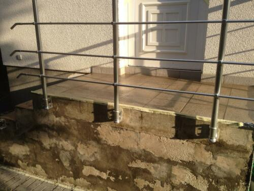 Treppensanierung innen / außen mit Steinteppich ...