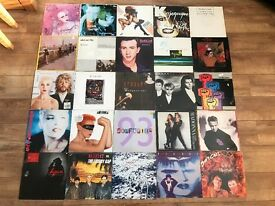 "JOBLOT 73 VINYL ALBUMS + 12"" SINGLES - NEW WAVE / INDIE / SYNTH POP / NEW ROMANTIC"
