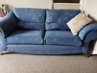 3 seater 2 seater and pouffe.