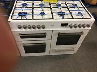 Range cooker 100 cm duel fuel 8 gas hob