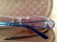 Genuine Gucci GG2824 Optical Glasses - Col LTV Dark Blue/Gold- Size 53-18