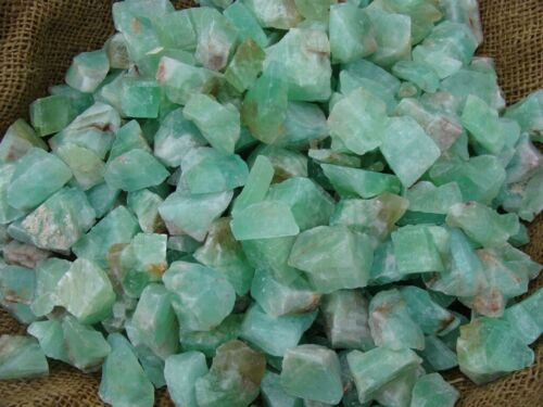 3000 Carat Lots of Green Calcite Rough + A FREE Faceted Gemstone - Very Nice!