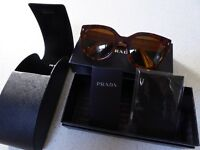 Genuine Prada Sunglasses with Box, Case, Tags/Papers - as new condition
