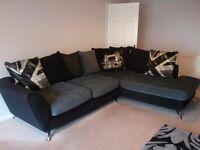 Large black and grey corner suite