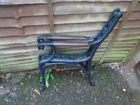 Cast iron bench ends, 1920s Art Deco style.