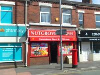 shop and 3 bed flat st helens, wa9 5pj, fit kit, dg, gch, old post office, alcohol licence till 1am