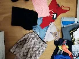 Bundle of clothes shoes