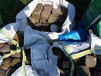 3500 cobbles 2900 red/yellow sandstone cobbles and 600 granite cobbles. £1 each. Local pickup only.