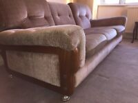 70s three seater sofa, good condition, very firm and comfortable, retro vintage etc 3
