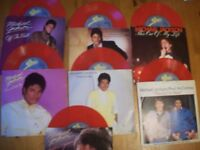 Michael Jackson red vinyl singles