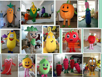 Advertising Fruit Vegetable Mascot Cosplay Costumes Party Game Carnival Dress US](Vegetable Mascot Costumes)