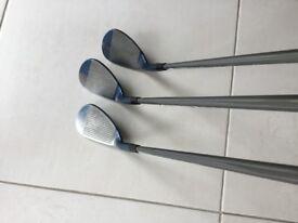 Mizuno S5 - Blue IP Golf Wedges 50,55,60 RH, R Flex, Graphite Shafts, Golf Pride Multi Grips