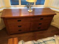 6 draw solid Oak chest