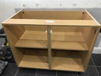 1000mm light oak kitchen base unit
