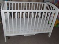 John Lewis baby cot with mattress.