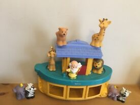 Fisher price little people Noah's ark including Noah and the animals