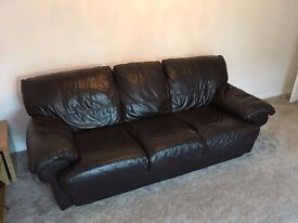 2 x 3 Seater Leather Sofas