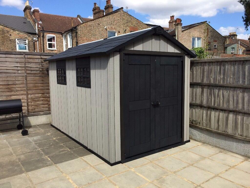 keter maintenance free oakland garden shed 79x 114 x 75ft cheap rrp