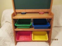 Kid Kraft Solid Natural Wood Grand Storage Easel Fully Assembled [can deliver radius of 10 miles]