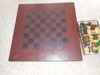 Hand Made chess board & chess pieces