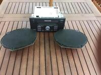 Ford Fiesta radio and front speakers