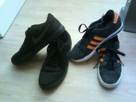 boys nike and boys adidas trainer