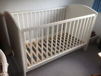 Cot and moses basket