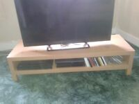 Beech coloured wooden TV stand for sale - ONLY £30!
