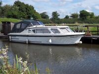 Sea Master 27 Cabin Cruiser. 4 Berth. Diesel with hydraulic gearbox. c/w mooring, Preston, Lancs.