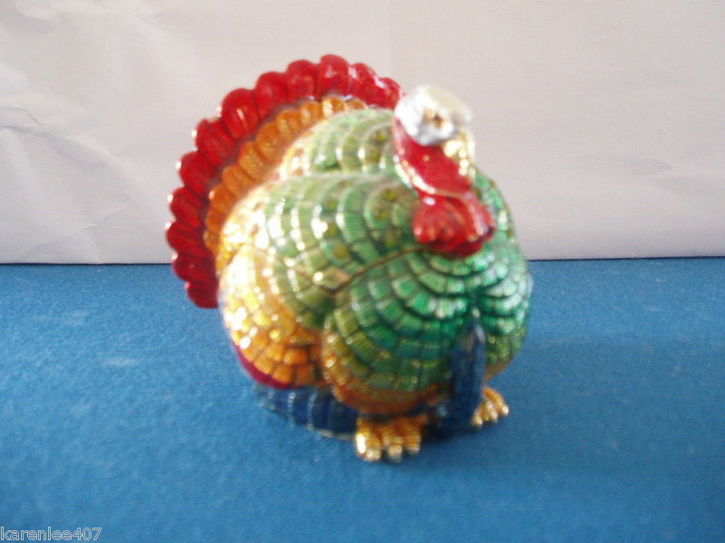Turkey  Trinket Box Opens To Hold Treaures