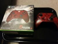 Official Xbox One Gears Of War 4 Crimson Omen Controller