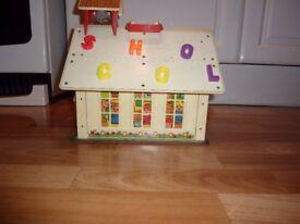 Original 1971 Fisher Price Play Family School