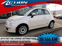 2014 Fiat 500 Lounge AUTO AIR CUIR TOIT BLUETOOTH