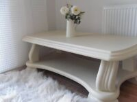 ** FABULOUS COFFEE TABLE - BEAUTIFULLY RESTORED IN SHABBY CHIC STYLE **