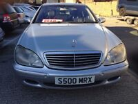 2001 MERCEDES S 500 WITH S500MRX PRIVATE PLATE LONG MOT