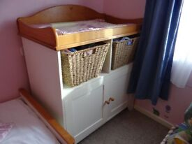 Kiddcare Baby Changing Unit with Baskets for Nursery