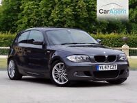 BMW 1 SERIES, M SPORT, DIESEL, LOADED WITH EXTRAS, FSH, £500 DEPOSIT ONLY £148 A MONTH
