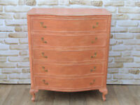 Bow front French style chest of drawers (Delivery)