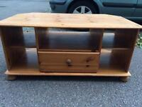 Large pine tv stand free local delivery