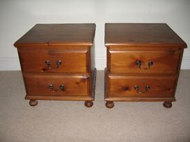 2 Solid Wooden Bedside Cabinets
