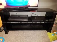 Argos Black Glass TV Stand. 3 shelves