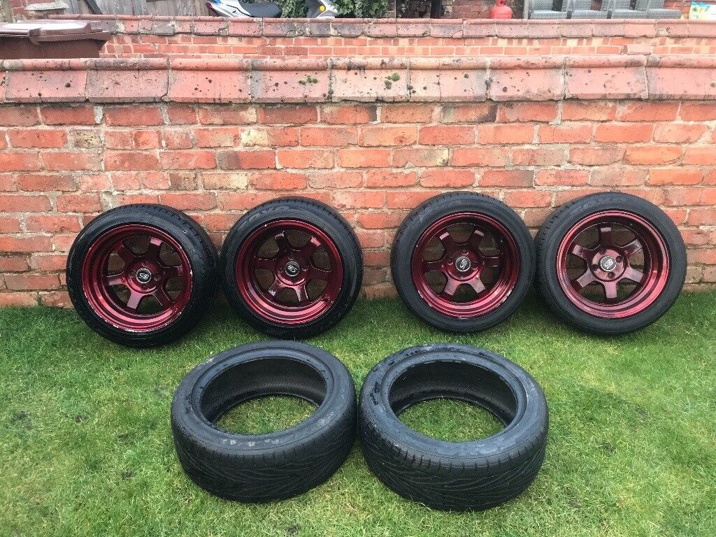 Candy Red Rota Grid Wheels 15 4x100 In Melton Mowbray