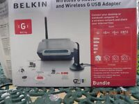 Belkin G Router and wireless G adapter